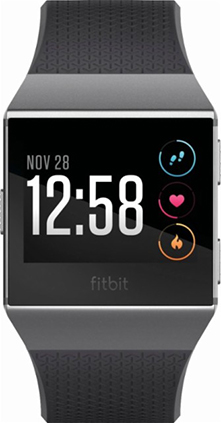 Fitbit – Ionic Smartwatch – Charcoal/smoke gray