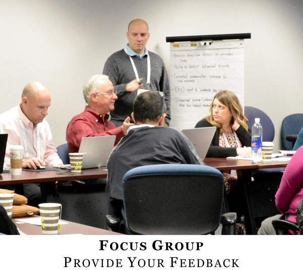 Focus Group Provide Your Feedback