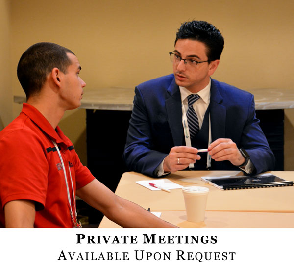 Private Meetings Available Upon Request