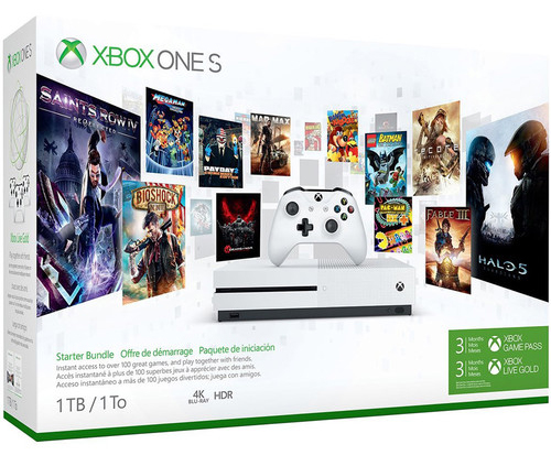 Microsoft Xbox One S 1TB Console – Starter Bundle