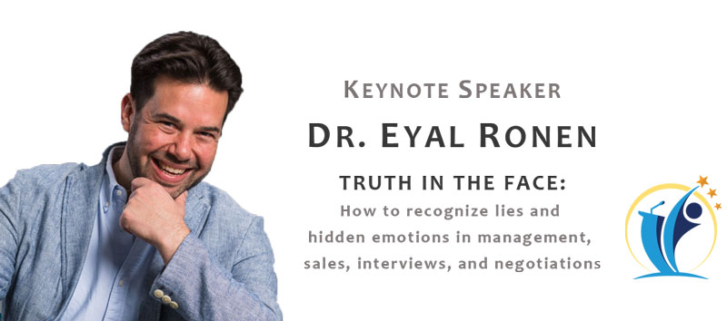 Dr Eyal Ronen keynote speaker truth in the face