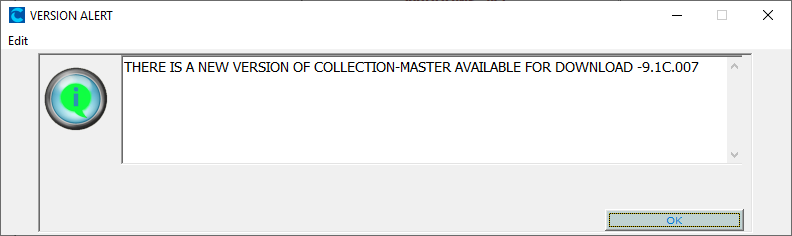 Collection Master New Version Alert