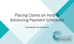 SS-Placing Claims on Hold and Advancing Payment Schedules
