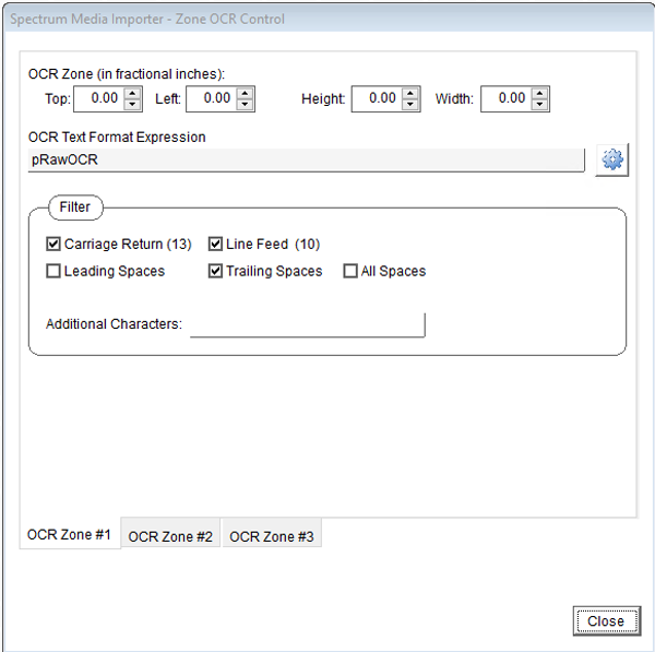 set those values in the Spectrum Media Importer – Zone OCR Control screen in vMedia: