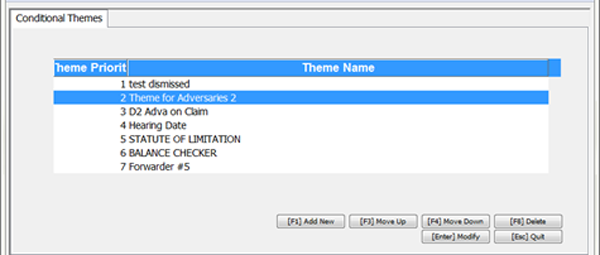 Conditional Themes Editor