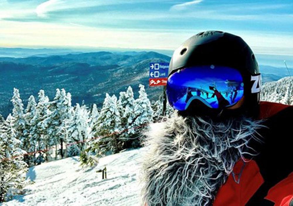 David Katusa in ski gear