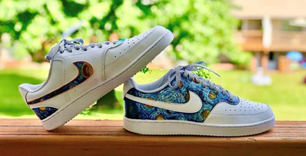 Customized sneakers